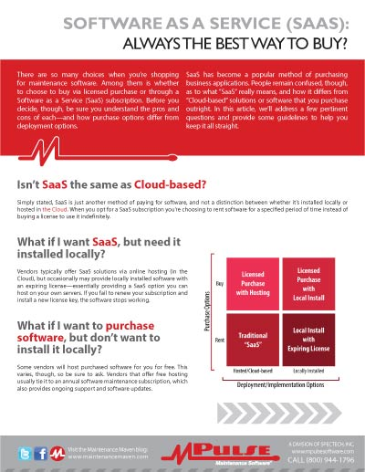 Software as a Service (SaaS): Always The Best Way to Buy?
