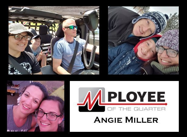 Angie Miller MPloyee of the Quarter