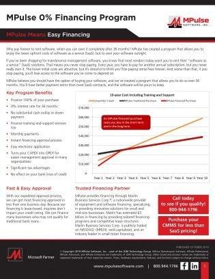 MPulse 0% Finance Program